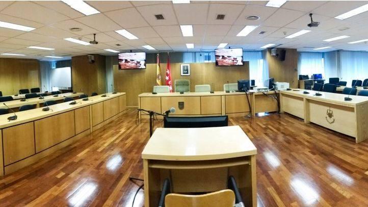 Sala 0 de la Audiencia Provincial de Madrid dónde se juzga el caso Madrid Arena.