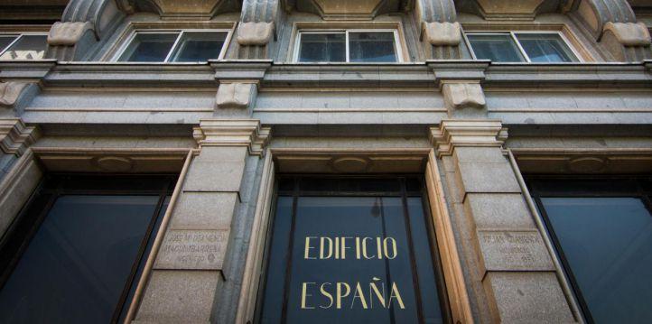 Vista de la fachada del edificio España.