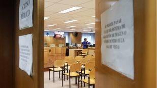 Sala 0 de la Audiencia Provincial de Madrid donde se celebra el juicio por el Madrid Arena.