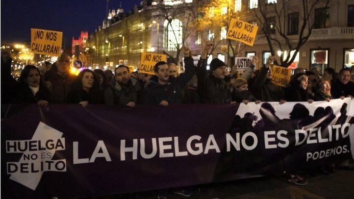 Una manifestación en apoyo a 'Los 8 de Airbus' reclama que