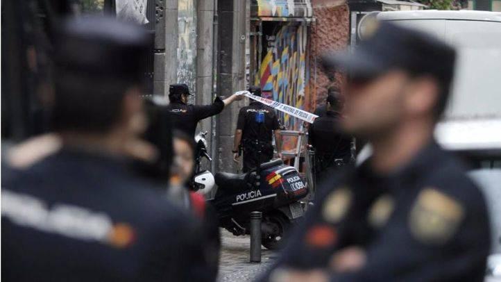 La Polic�a en un desalojo en Madrid (archivo)