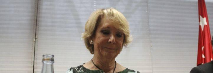 Esperanza Aguirre, en la comisión de investigación
