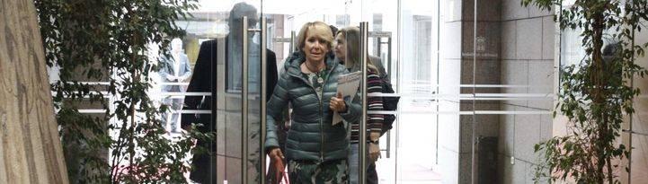 Esperanza Aguirre, a su llegada a la comisión de investigación