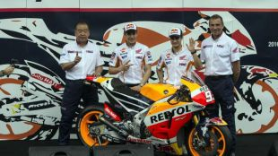 Repsol Honda desvelan la nueva RC213V en Sentul, Jakarta
