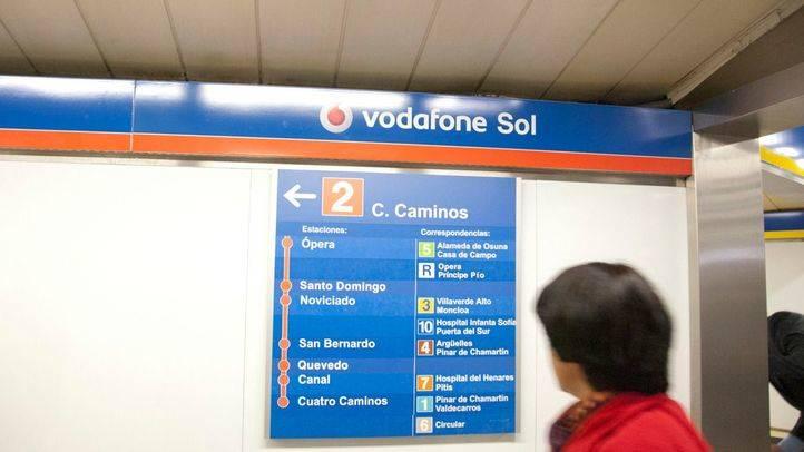 Transportes prefiere no continuar con el patrocinio de la estación de Sol por Vodafone