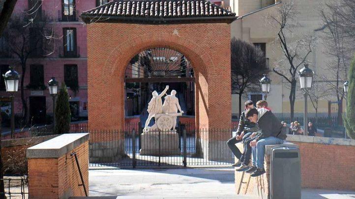 Plaza del Dos de Mayo en el barrio de Malasaña
