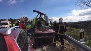 Un fallecido tras un choque de dos turismos a la altura de Brunete