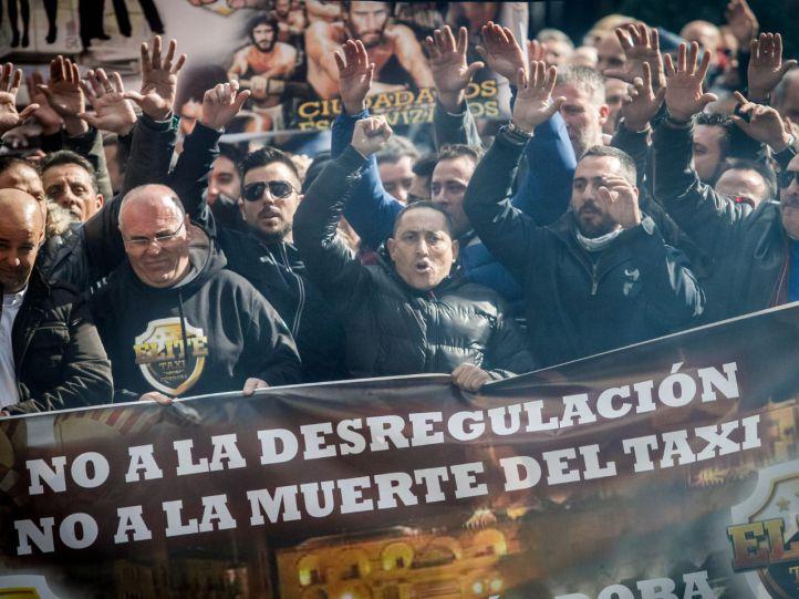 Manifestación de los taxistas