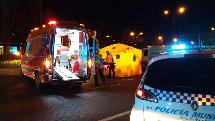 Herido grave un joven de 24 años al ser atropellado en el Paseo de la Castellana