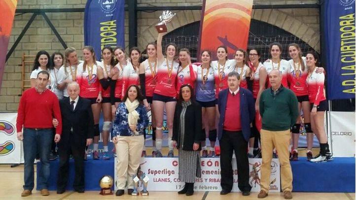 El equipo de voleibol femenino juvenil de Alcobendas, el mejor de España