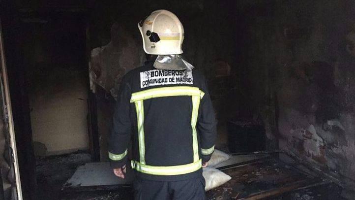 Muy grave un hombre en Pedrezuela con quemaduras en casi todo el cuerpo por un incendio en su vivienda