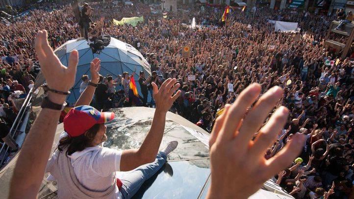 Asamblea masiva en el segundo aniversario del movimiento 15-M en la Puerta del Sol