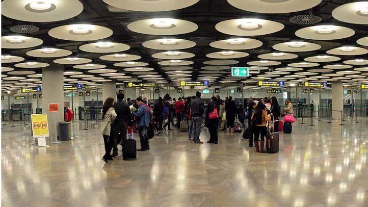 Aeropuerto Adolfo Suarez Madrid Barajas T4, desde donde ejercían el tráfico
