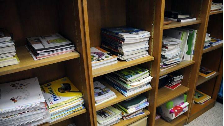 Libros de texto en un colegio (archivo)