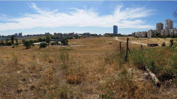 Terrenos donde está previsto llevar a cabo la operación 'Castellana Norte'.