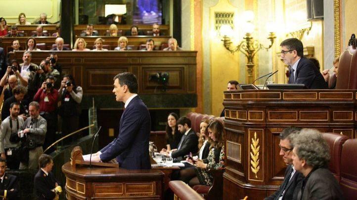 Pedro Sánchez en el Congreso en la Sesión de Investidura