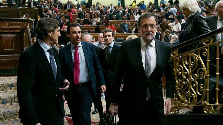 Rajoy en la sesión de investidura en el Congreso de los Diputados