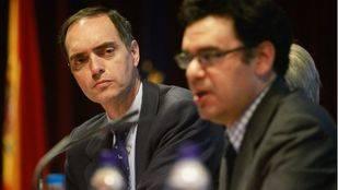 José Antonio Poveda secretario regional de Escuelas Católicas de Madrid, junto al director general Ismael Sanz.