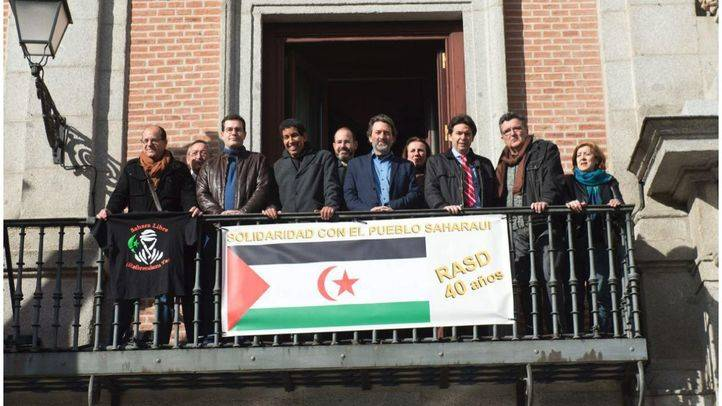 Acto de apoyo al pueblo saharaui.
