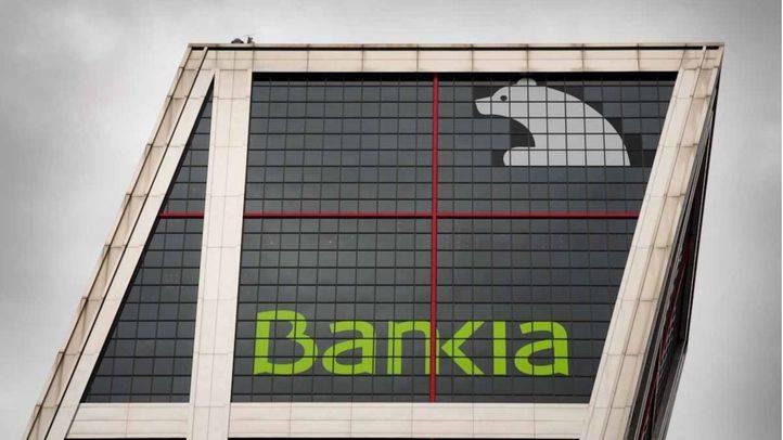 Edificio derecho de la torres kio sede de Bankia