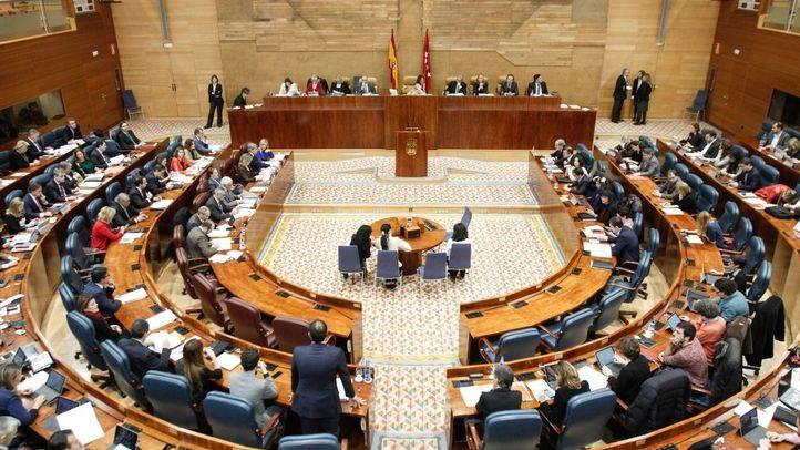 Pleno de la Asamblea de Madrid (archivo)