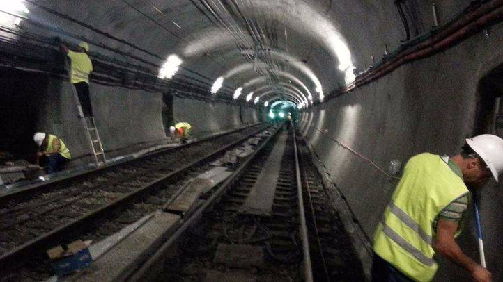 Obras en la Línea 1 de Metro (archivo)