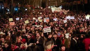 La lucha feminista llena de nuevo el centro de Madrid