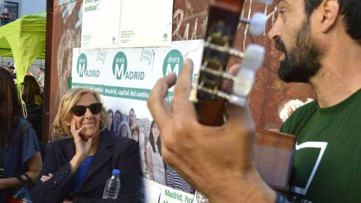 Manuela Carmena, en el acto de fin de campaña de Ahora Madrid (archivo)