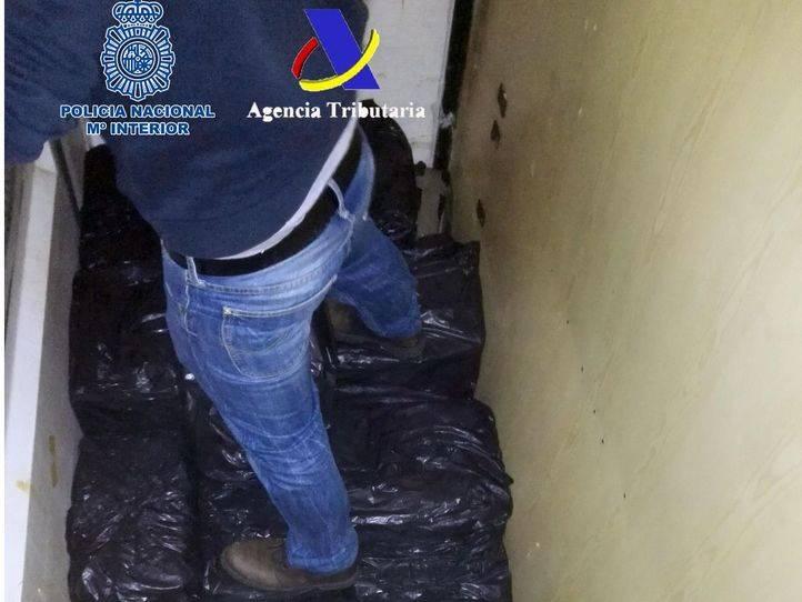 Cargamento de hachís incautado por la Policía Nacional