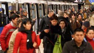 Los viajeros de metro aumentan en enero un 1,4% frente a los de la EMT, que crecen un 3,1%