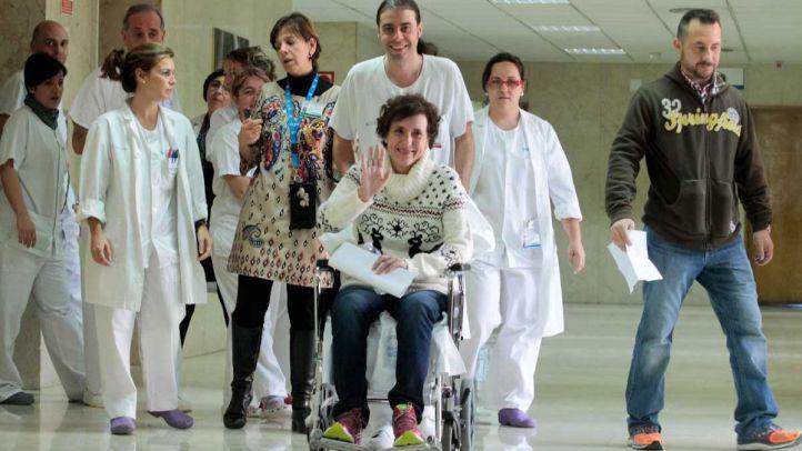 Teresa Romero sale del hospital Carlos III