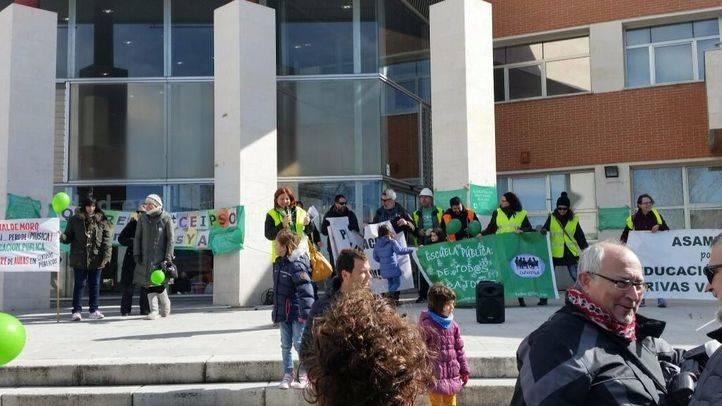 Una protesta educativa recorrió Rivas a finales de febrero para la construcción de varios centros, incluido el CEIPSO.