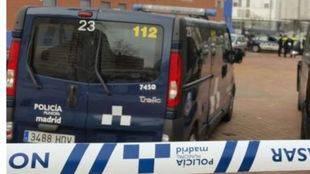 Cordón policial en un desahucio (archivo)