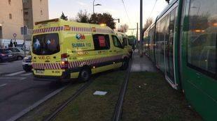 Una niña de 15 años herida grave tras ser atropellada por un tranvía en Parla