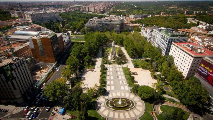 Vista aérea de la plaza de España (archivo)