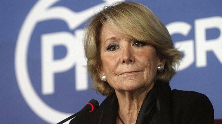 Esperanza Aguirre en rueda de prensa (archivo)