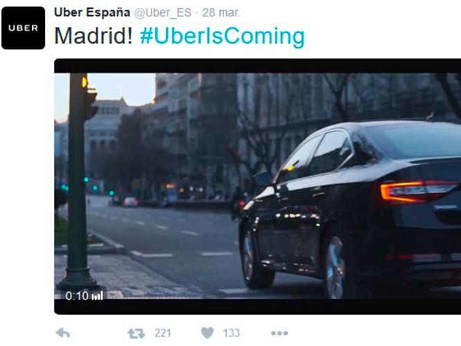 Uber vuelve a España con la prestación de servicios en Madrid