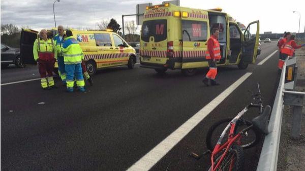 Fallece un ciclista atropellado por un coche en la M-501