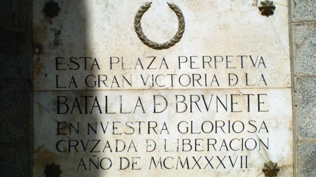 Resultado de imagen de Placa de Brunete