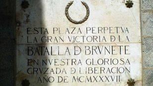 La Comunidad protege la Plaza Mayor de Brunete incluyendo los símbolos franquistas
