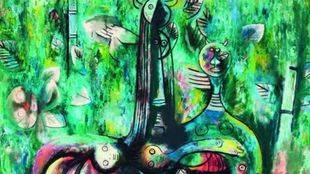 Le Sombre Malembo, dieu du Carrefour (El sombrío Malembo, dios de la encrucijada), de Wilfredo Lam.