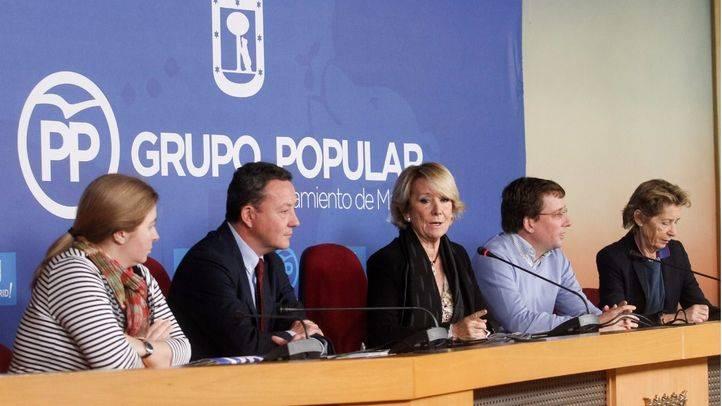 Esperanza Aguirre en una rueda de prensa (Archivo)