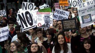 PP y PSOE callan ante la huelga de estudiantes que Podemos e IU apoyan y Ciudadanos critica