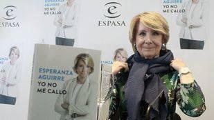 Esperanza Aguirre presenta su libro y afirma que su reacción ante la corrupción en el PP de Madrid