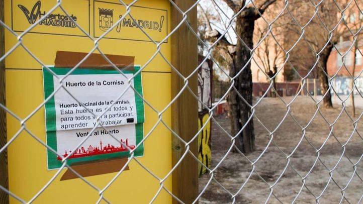 Huerto urbano del parque de la Cornisa que pertenece a la red municipal de huertos urbanos  y gestionado por los vecinos.
