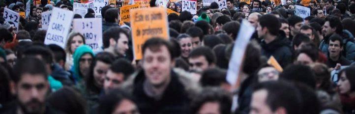 La huelga contra la LOMCE y el 3+2 vac�a aulas de instituto y apenas se nota en la universidad