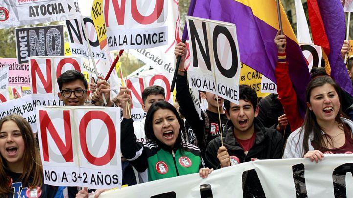 Nueva jornada de huelga y manifestaciones contra la LOMCE