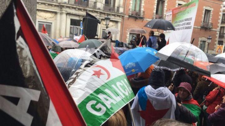 Concentración saharaui en Madrid