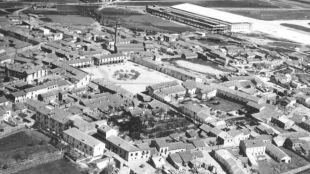 Vista aérea de Barajas en 1950