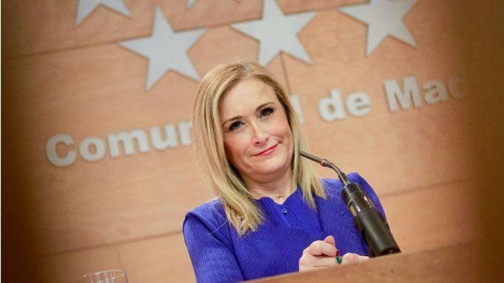 Cristina Cifuentes comparece en rueda de prensa tras la junta de gobierno de la Comunidad de Madrid. (Archivo)